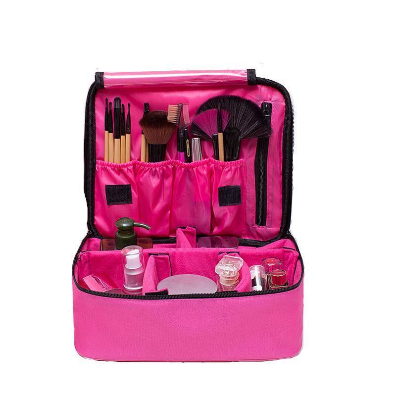 Fashion Professional Suitcase Makeup Box Make Up Cosmetic Bag Portable Case Travel Organizer Toiletry Waterproof Storage Pouch