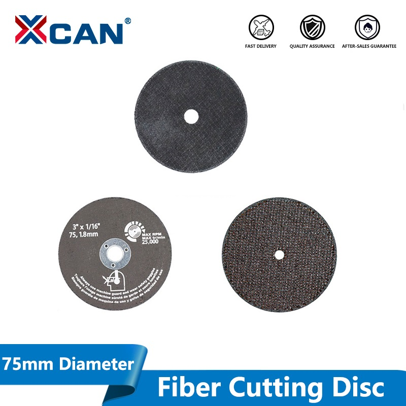 XCAN 1pc Diameter 75mm Fiber Cutting Disc For Angle Grinder Disc Cutting Stone Tile Metel Circular Saw Blade