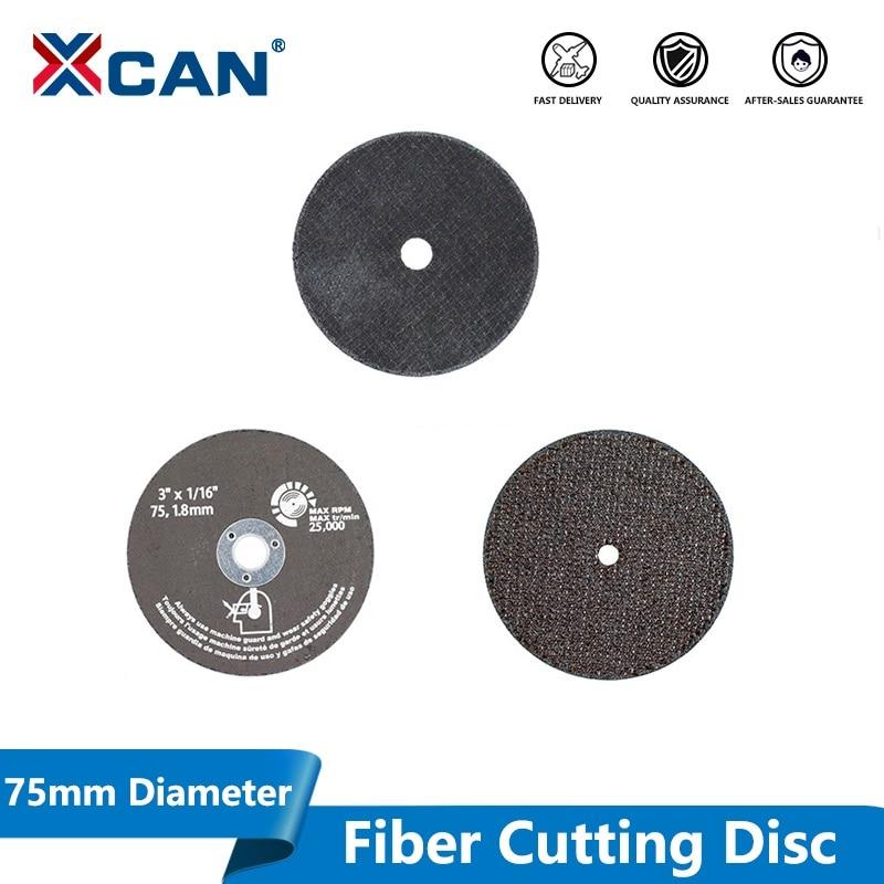 XCAN 1pc Diameter 75mm Fiber Cutting Disc For Angle Grinder Disc Cutting Stone Tile Metel Circular Saw Blade