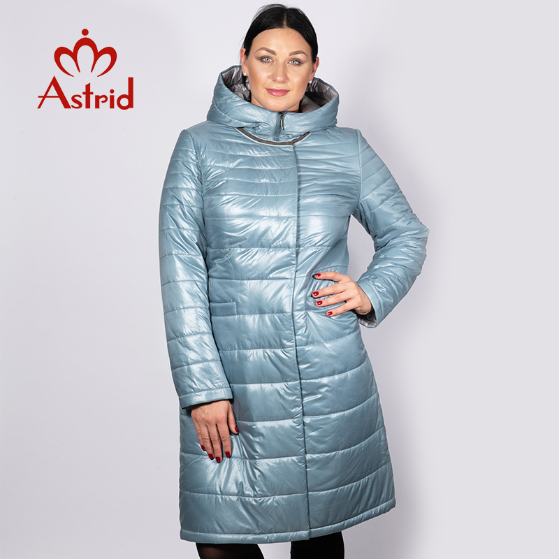 Astrid 2019 Spring Winter Women Jacket Windproof Warm Hooded Slim Cotton Womens Warm Jacket With Hood New Collection AM-2065