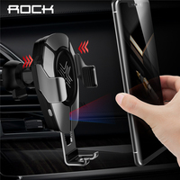 ROCK Car Wireless Charger Infrared Sensor Fast Charging For iPhone XR XS MAX for Huawei P30 Pro for Samsung Car Phone Holder