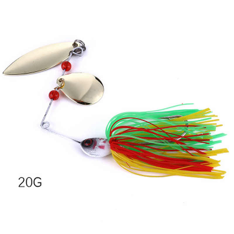 Spinner Memancing Umpan Sendok Bass Ikan Kecil Engkol Popper VIB Spinnerbait Umpan Tackle Kait Memancing