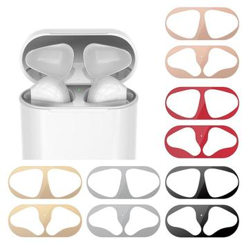 Metal Dustproof Sticker For Apple AirPods 1 2 Case Skin Sticker Self-Adhesive Ultra-Thin Cover Film Protective Accessories W1G1 image
