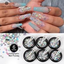 SAVILAND Diy Butterfly Shiny Nail Glitter Sequins Diamond