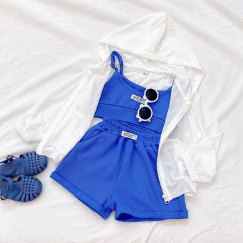 2021 nowych dzieci zestaw ubrań z bawełny z krótkim rękawem dla niemowląt dziewczyna odzież sportowa chłopcy lato strój sportowy dla dzieci drukuj dziewczyny strój tanie i dobre opinie MAIDEN VISION COTTON POLIESTER Damsko-męskie 7-12m 13-24m 25-36m 4-6y Aktywne CN (pochodzenie) Z okrągłym kołnierzykiem