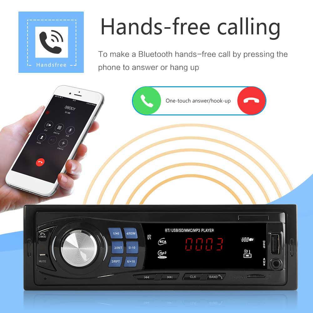 مشغل MP3 ستيريو للسيارة 1Din في وحدة رأس جهاز بلوتوث USB AUX راديو FM