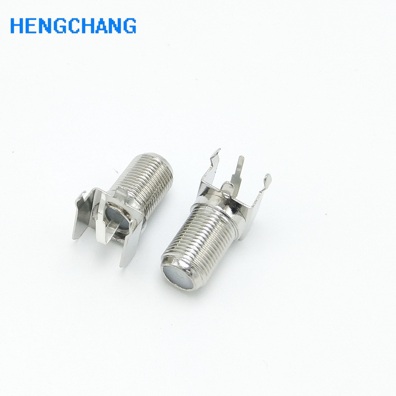 20pcs 3pin F Female Coaxial Connector Right Angle F Type Panel Mount Socket For DVB Satellite Receiver