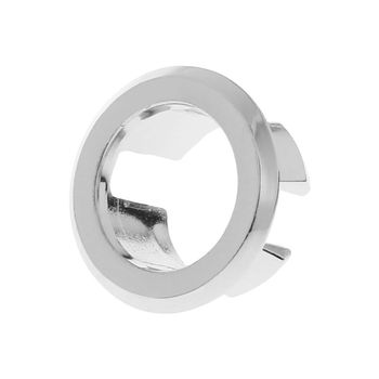 Bathroom Basin Sink Overflow Ring Six-foot Round Insert Chrome Hole Cover Cap Q84D image