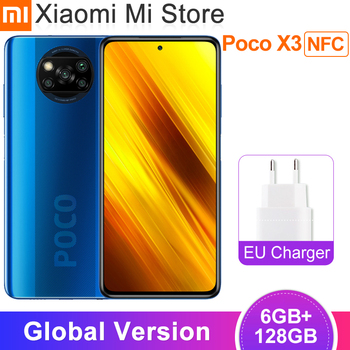 Global Version Xiaomi Poco X3 NFC Mobile Phone 6GB 128GB Snapdragon 732G Octa Core 64MP 5160mAh Battery 120Hz Smartphone
