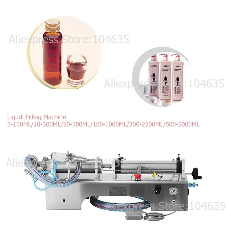 Semi Automatic One Head  High Accuracy Viscous Liquid Filling Machine Beverage Milk Olive Small Soft Drink Oil Liquid Filler
