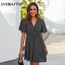 Everafter 2020 весна лето Бохо цветочный принт платье для женщин