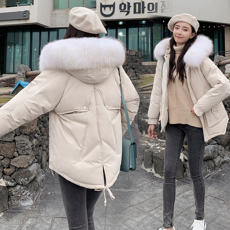 Photo Shoot 19 Autumn & Winter New Style Down Jacket Cotton-padded Clothes Women's Fashion Korean-style Five-pointed Star Short