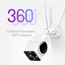 цена на Full HD 1080P 2MP 360 Degree Bullet Wifi IP Camera Wide Angle Outdoor Fisheye Smart 3D VR Camera Waterproof Security Wireless