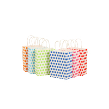 50 Pcs/lot High Quanlity Paper Bag With Handle Colorful Polka Big Dot Bags Party Favor Gift Packing Treat Wholesale