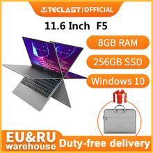Teclast F5 Laptop Windows 8GB RAM 256GB SSD Intel Gemini Lake N4100 1920*1080 Quick Charge 360 Rotating Touch Screen Notebook PC