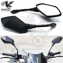 10 мм 8 мм Винт черный Универсальный dirt pit bike заднего вида зеркала для мотокросса ATV внедорожный мотоцикл зеркало заднего вида для KTM husqvarna honda suzuki yamaha xj6 ybr 125 tdm 850 xt 600 аксессуары для мотоциклов Мото зеркала