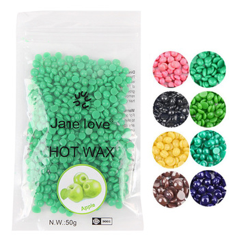 Hot 50g Wax beans No Strip Depilatory Hot Film Hard Wax Pellet Waxing Bikini Face Hair Removal Bean cera For Women Men