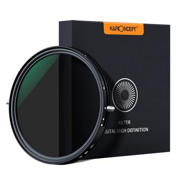 K&F Concept 67mm 77mm 82mm Variable Fader ND2-ND32 ND Filter and CPL Circular Polarizing Filter 2 in 1 for Camera Lens No X Spot