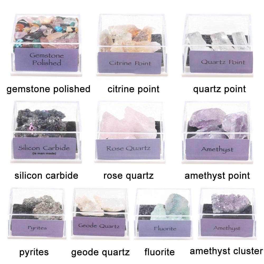 1 коробка в упаковке, Натуральный Необработанный кварцевый кристалл руды, необработанный драгоценный камень, образец минерала, изготовлени...
