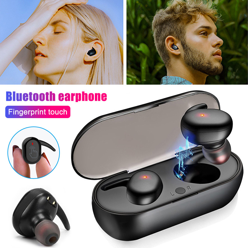 <font><b>TWS</b></font> Bluetooth 5.0 Earphones Wireless Touches Control Stereo In-ear Earbuds Noise Cancelling Headset HSJ-<font><b>19</b></font> image