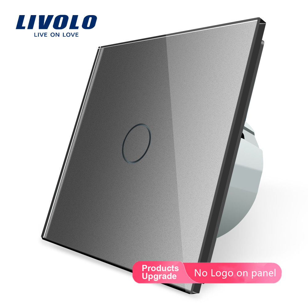 Image 3 - Livolo Wall Light Touch Switch With Crystal Glass Panel,colorful switch,led indicator light,universal wall switchesSwitches   -