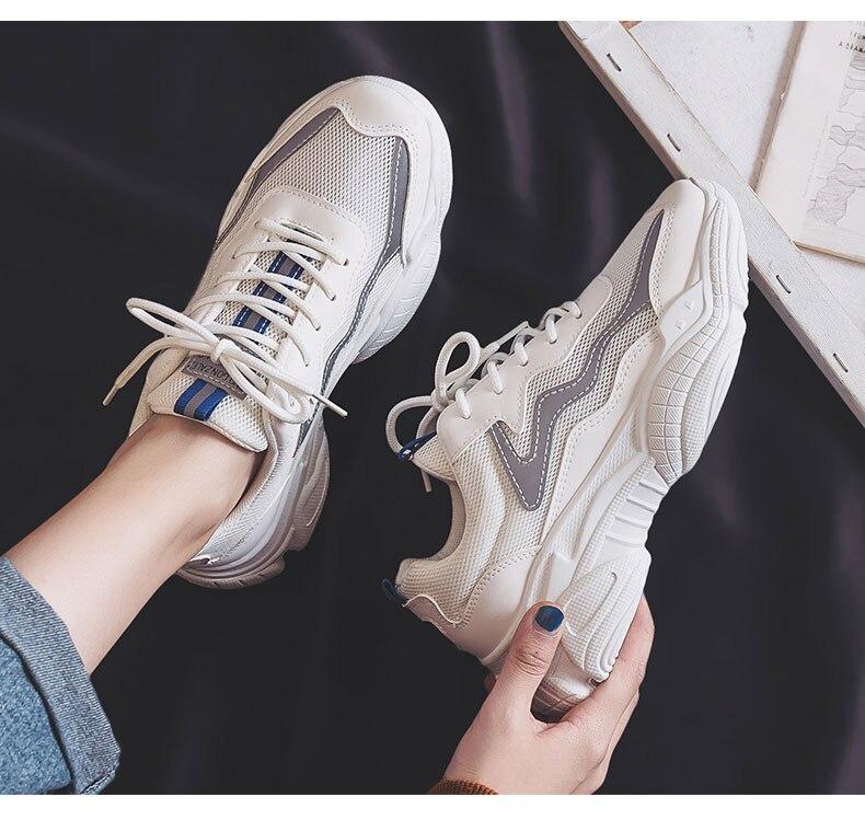 designer plataforma chunky tênis senhoras formadores rendas até primavera feminino plana