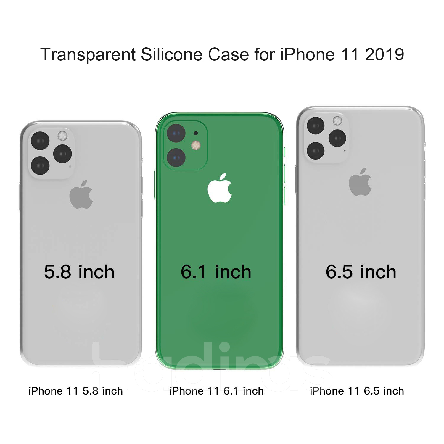 Hadinas Silicone Case for iPhone 11/11 Pro/11 Pro Max 16