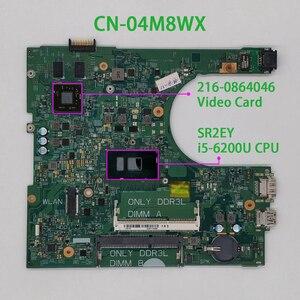 Image 1 - 4M8WX 04M8WX CN 04M8WX Dành Cho Dành Cho Laptop Dell Inspiron 14 3459/3559 14236 1 PWB:CPWW0 W I5 6200U CPU Bo Mạch Chủ Mainboard Hệ Thống Bảng Kiểm Nghiệm