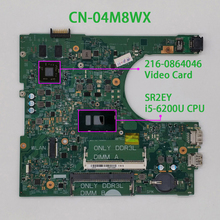 4m8wx 04m8wx CN 04M8WX para dell inspiron 14 3459/3559 14236 1 pwb: cpww0 w i5 6200U placa de sistema de placa mãe cpu mainboard testado