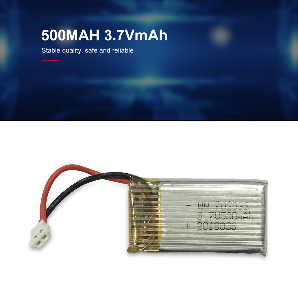 3.7V 500mah Lipo Battery Replace Rechargeable Batteries For S19 FPV RC Drone Spare Parts Accessories