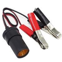 12V Auto Batterie Terminal Clip-Auf Zigarette Leichter Clamp Steckdose Adapter Stecker Boot Auto USB Ladegerät Auto zubehör