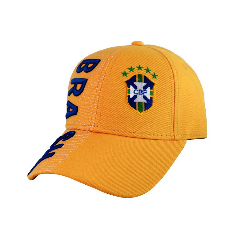 Brazil BR World Cup National Football Soccer Hat Snapback Sun Baseball Cap