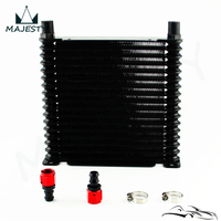 8 AN 32mm Aluminum 17 Row Engine/Transmission Racing Oil Cooler w/ Fittings| |   -