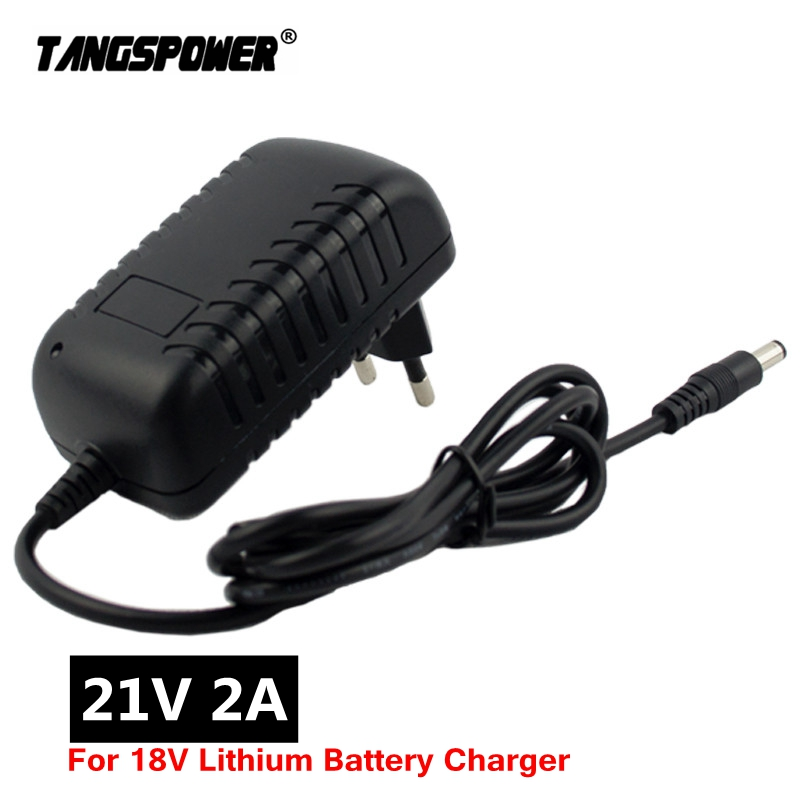 21V 2A 18650 Lithium Battery Charger for Electric Screwdriver 18V 5S Li-ion Battery Wall Charger DC 5 5   2 1 MM Free shipping