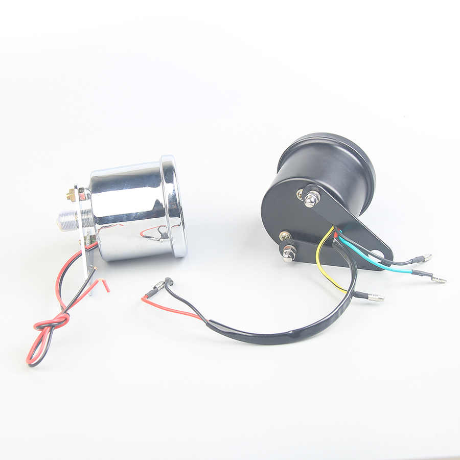 Reequipamento motocicleta medidor mecânica tacômetro display digital scooter instrumentos tacômetro para o motor elétrico 1000 rpm suporte