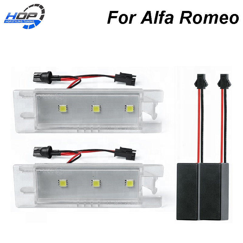 2x LED Bulbs 501 T10  White 6x  LED To Fit Number Plate Alfa Romeo Spider