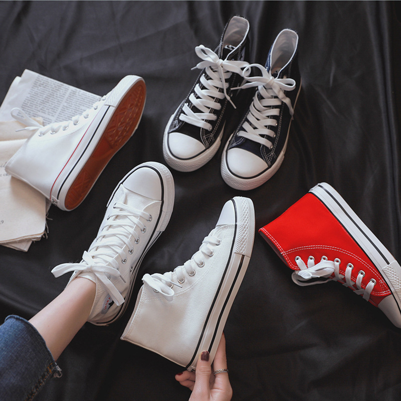 CHIC Canvas Shoes 1970s Retro COUPLE'S Shoes South Korea Ulzzang Casual Shoes Super Fire Street Snap Cloth Shoes Female Students