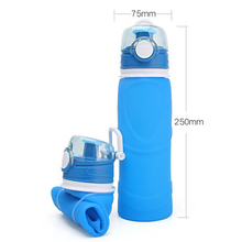 750ML Collapsible Silicone Water Bottle Folding Kettle Outdoor Sport Camping Travel Running Dropshipping