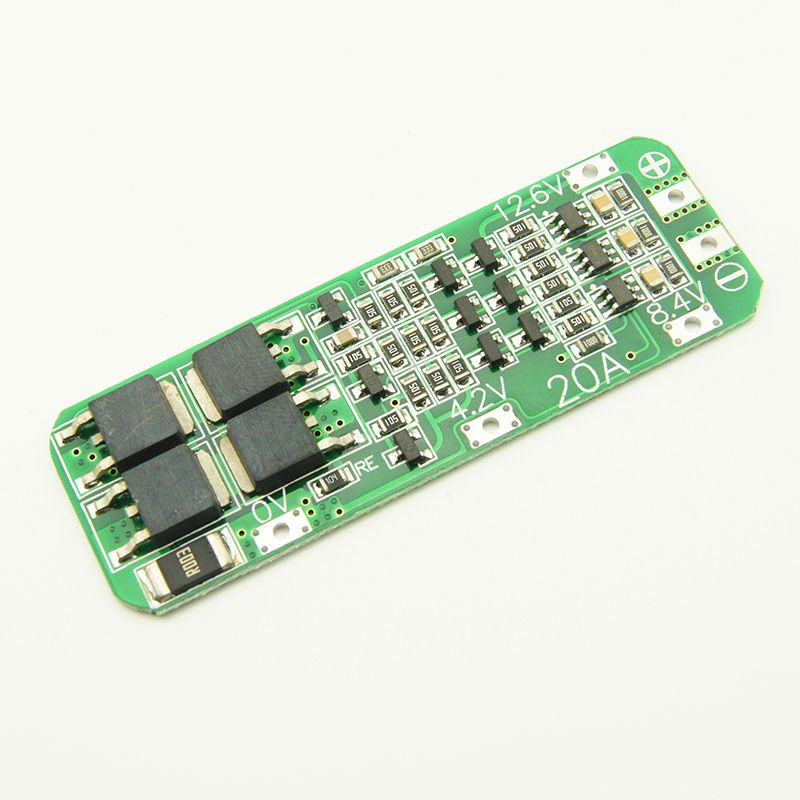 20A Li-ion Lithium Battery 18650 Charger PCB BMS Protection Board 12.6V Cell 59x20x3.4mm Module