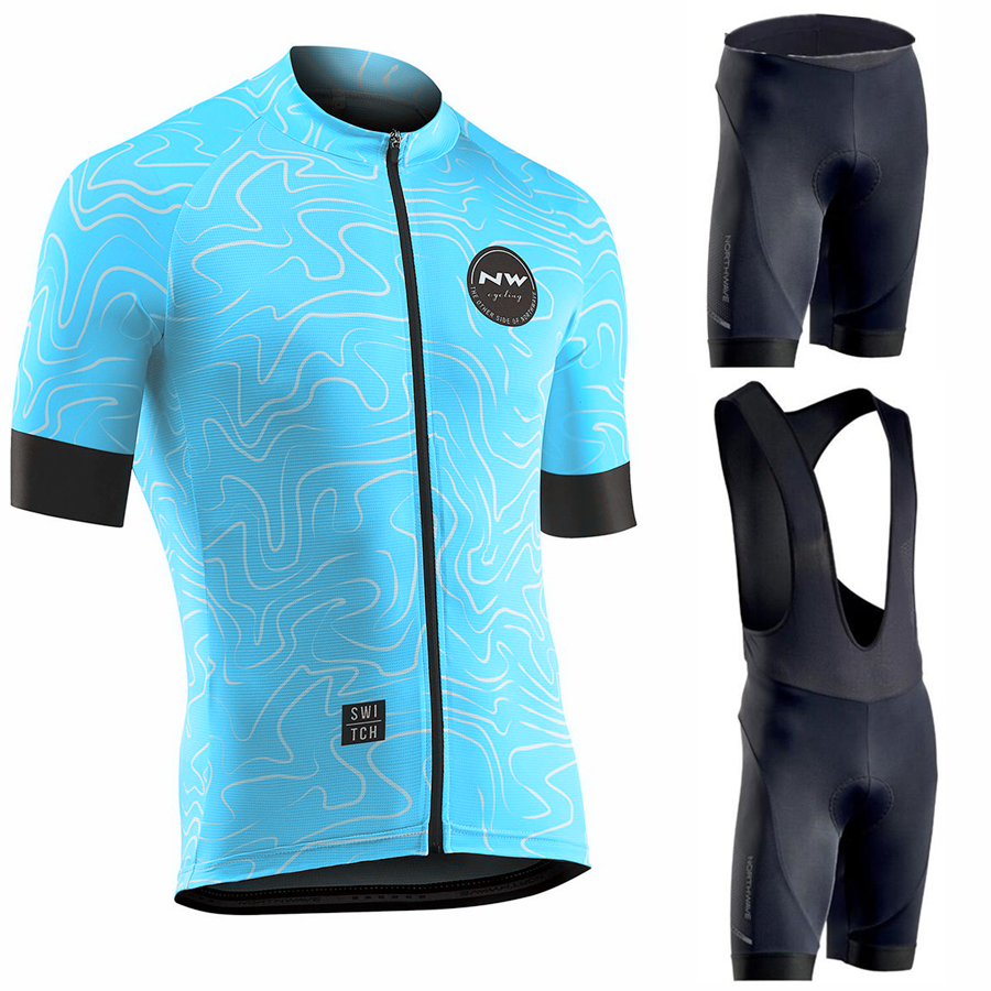 Northwave 2019 Men Cycling Jersey Summer Short Sleeve Set Maillot bib shorts Bicycle Clothes Sportwear Shirt Clothing Suit NW