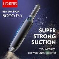 Licheers Mini Drahtlose Auto Staubsauger Super Starken Sog 5000 Pa 60W Tragbare Handheld Auto Vacumm Reiniger für auto hause