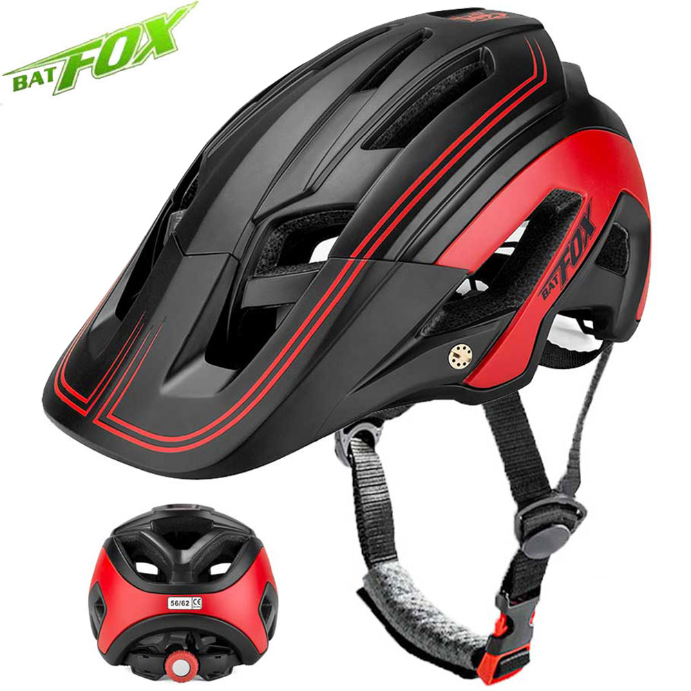 BATFOX Bicycle Helmet Ultralight Integrally-molded Road Bike Mountain MTB Cycling Helmet Outdoor Ridding Safe Cap Casco Ciclismo