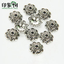 1Pc 12 Millimetri in Lega di Zinco D'argento Del Fiore Star Spacer Beads End Caps Pendenti E Ciondoli per Monili Che Fanno Braccialetto Accessori 846(China)