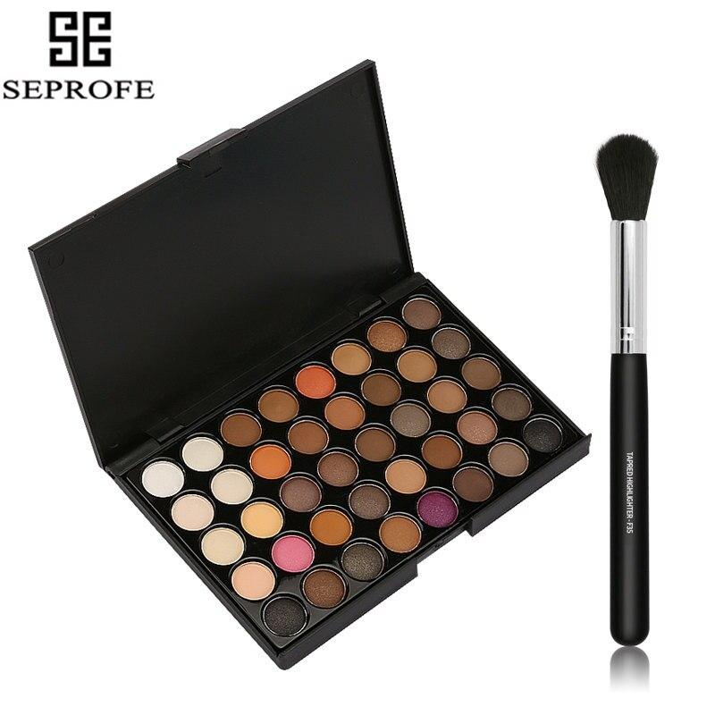 40 Colors Matte Eyeshadow Pallete Make Up Earth Palette EyeShadow Makeup Glitter Waterproof Lasting Makeup+ 1 Pcs Brush