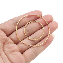 Round Earrings Jewelry-Accessories DIY Gold Women for Fashion Large Hollow 10pcs Circle