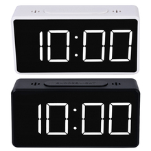 Digital Mirror LED Display Alarm Clock Electronic Time Temperature Calendar Table Alarm Clock USB Charging Student Desk Clocks digital desk led calendar alarm clock with temperature display blue light ac 4 aa powered