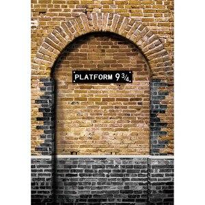 Image 4 - Allenjoy fondos fotográficos para niños, foto de pared de ladrillo, Escuela mágica, estación cruzada de reyes, 9 y 3/4