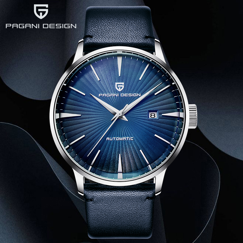 PAGANI 2019 New Men's Watches Classic Mechanical Leather Watch Men Luxury Men Automatic Watches Business Waterproof Clock Man