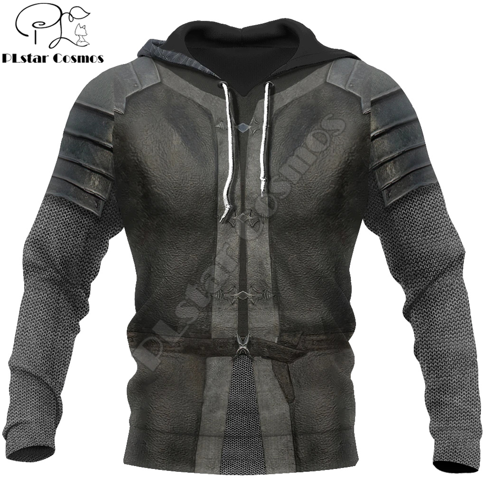 3D Printed Knight Medieval Armor Men Hoodie Knights Templar Harajuku Fashion Jacket Pullover Unisex Cosplay Hoodies QS-008