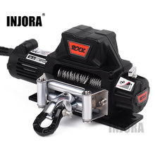 INJORA RC Car Metal Steel Wire Automatic Simulated Winch for 1/10 RC Crawler Car Axial SCX10 90046 D90 Traxxas TRX4 Redcat(China)